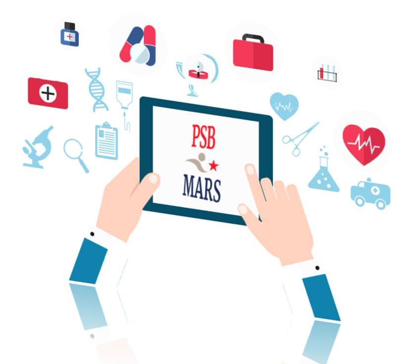 Using the PSB*MARS website on a tablet