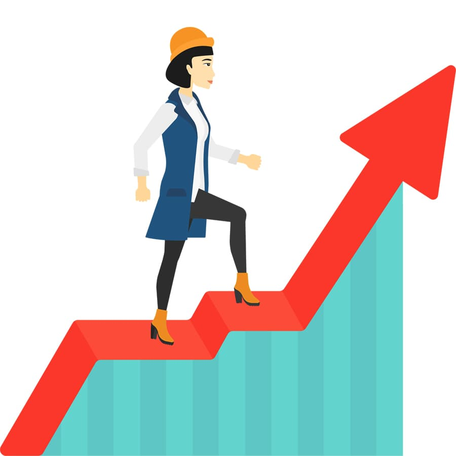 Woman seeing results and increased revenue